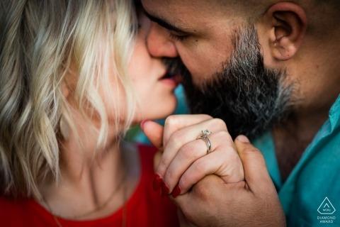 Geschossen von der Verlobungssitzung mit Hochzeitskunden