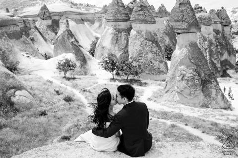 Kapadocja, Turcja Portrety przedślubne - miłośnicy pięknego widoku