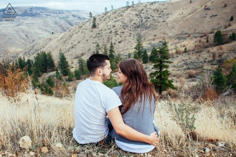 Wenatchee, WA Engagement Shoot with A beautiful view.