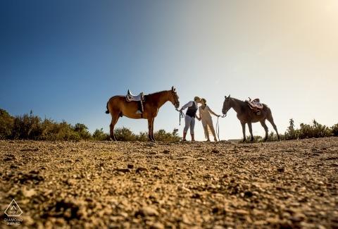 Águilas - Murcia Engagement Photography - Après-midi d'équitation