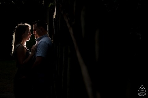 Naples Florida Engagement Photo Shoot at Night under a Light