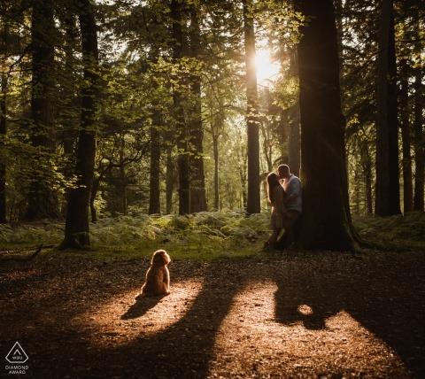 Sesión de retrato de Blackwater Arboretum: este perro también es parte de la familia