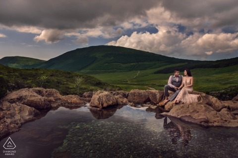 Isle of Skye, Scotland Couple Portrait Session in the Mountains