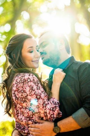 Servizio fotografico pre-matrimonio di Holambra | sole e bacio