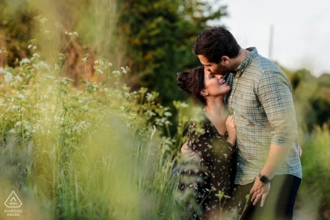 A countryside engagement shoot in Bishopsbourne, Kent UK