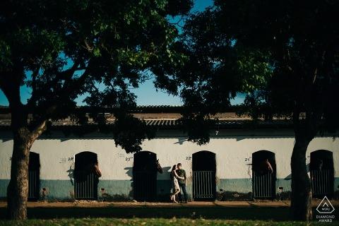 Brésil Couple et maison de chevaux pendant le tournage de fiançailles
