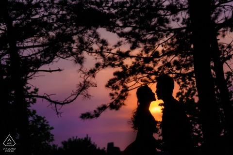 China Pre Wedding Portraits - Amor en la puesta de sol
