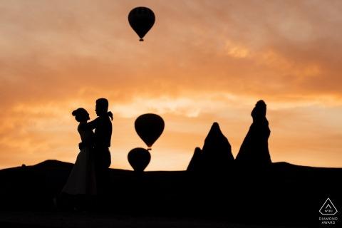 Turkey Hot Air Balloon Engagement Photos - Love in Cappadocia!
