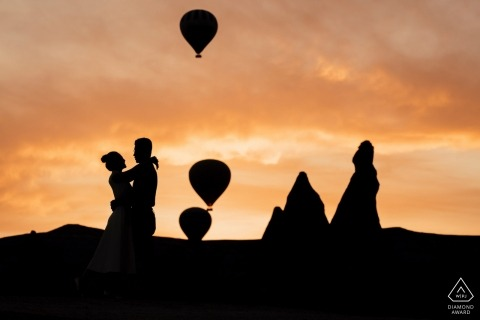 Turkey Hot Air Balloon Engagement Photos - Love in Cappadocia!