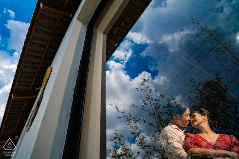 Saigon Vietnam Pre-Wedding Shoot through mirror