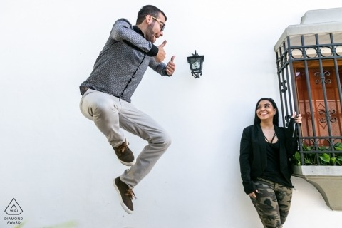 Venezuela and Caracas pre wedding portraits for fun couples