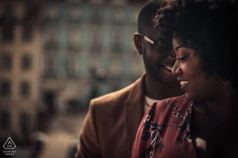Rossio Lisboa PreWedding Shoot with Nigerian couple in Lisbon