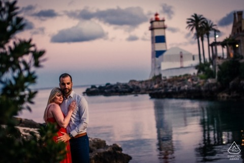 Portugal Pre-Wedding Portrait Session at Cascais by the Water