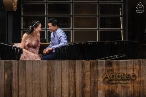 Shanghai Verlobungsporträtfotografie | Fotoaufnahme vor der Hochzeit draußen