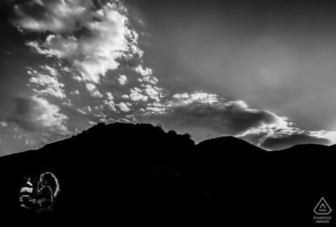 Coucher de soleil avant les portraits de mariage à Almería - Photographe de fiançailles en Espagne