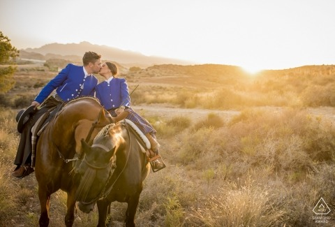 Almería - Spain PreWedding Photo Session with a Sunset and horses