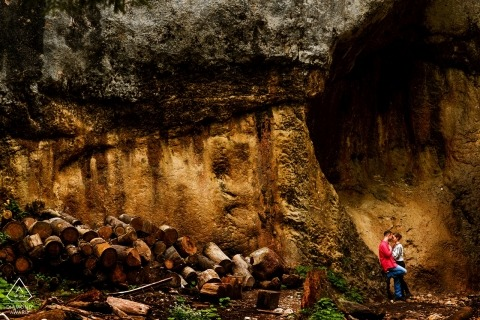 Seven Steps Canyon Brasov engagement photography session with couple