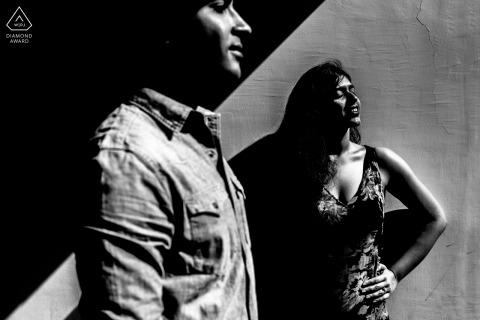 Zwart-witte fotoshoot voorafgaand aan de bruiloft in Goa