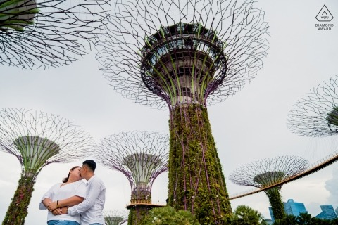 Singapore Engagement Photographer said: Singapore has a lot of interesting structure and these giant trees attracted to me. I decided to shoot these trees with couple.