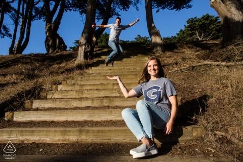 San Francisco Portraits de fiançailles humoristiques