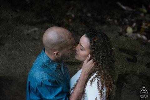 Sao Pedro da Serra Engaged Couple Posing for Portrait