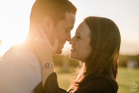 Engagement Portrait from Rio de Janeiro - Photography contains: couple, love, lifestyle, field, grass