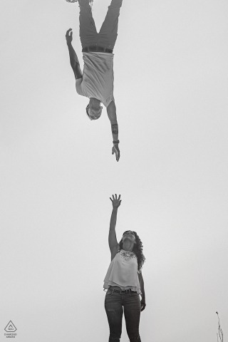 Engagement Photos from Durango, Bizkaia, Spain - Portrait contains: vertical, black and white, couple