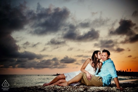 Engagement Photography during Sunset at Fort Zach