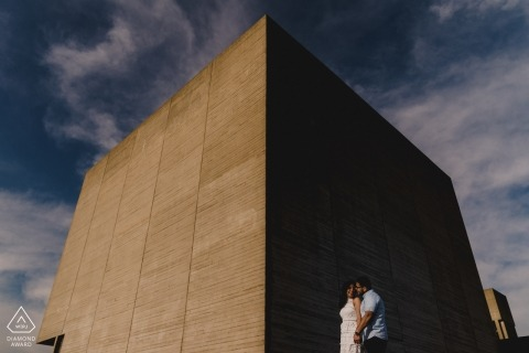 Engagement Photography for London - Standing on the Southbank in London