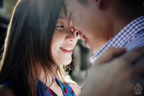 Engagement Portrait from Da Nang - Photography contains: intimate, couple, close-up, engaged, smiles
