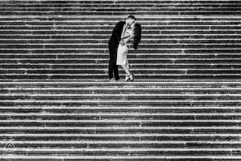 Engagement Photography for Rome - Italy | The stairs inside the Rome Capitoline hill