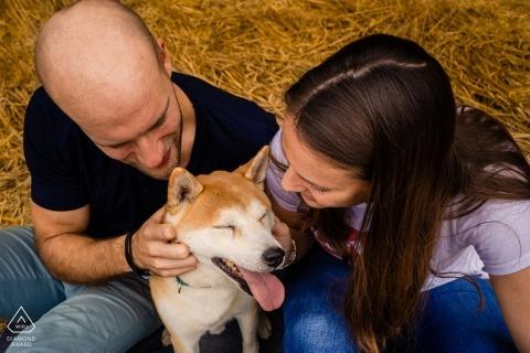 Betrokkenheidsfotografie voor Hannover, Duitsland - Quentin en zijn mensen tijdens hun verlovingssessie