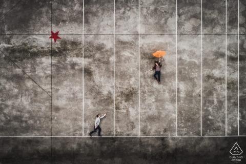 Betrokkenheidsfoto's uit Urrugne, Frankrijk - Luchtfoto's met drone