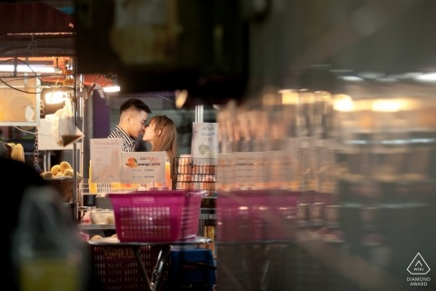 Engagement Portrait from Bangkok, Thailand - Loving in bangkok street