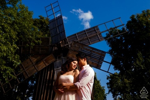 Engagement Portrait from session at the Peasant Museum in Bucharest