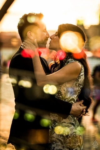 Engagement Photography for Czech Republic, Prague - Image Shot trough the earrings