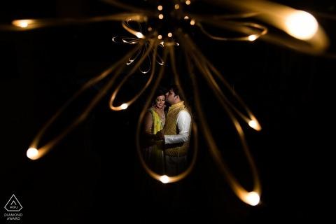Mumbai ingelijst - Koppelportret met licht
