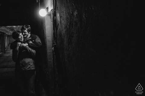 Brugges, Belgium engagement shoot - Let the light shine through