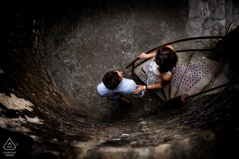 Dinefwr Castle engagement photo session - lead me - overhead couple portrait