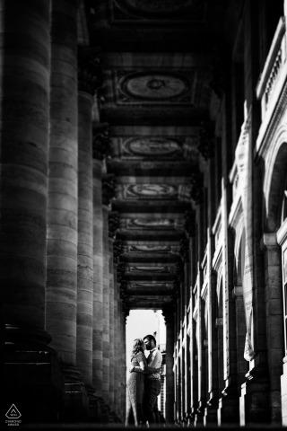 Vertical Couple Portraits for Engagement - Bordeaux, France