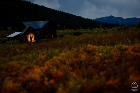 Breckenridge, CO - Alone with an engagement photographer in a ghost town