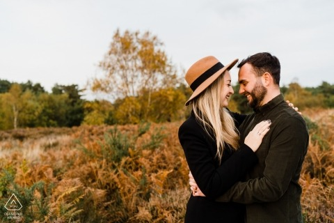 Heath, West Sussex Pre Wedding Engagement Portraits| Love on the heath...