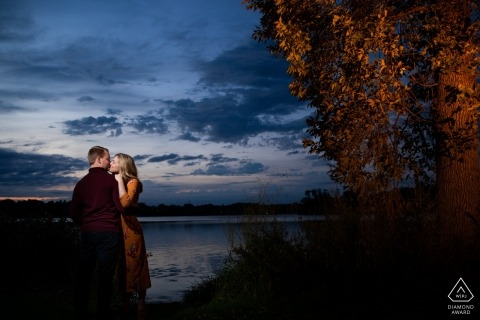 Lake of the Isles | Couple portraits at sunset