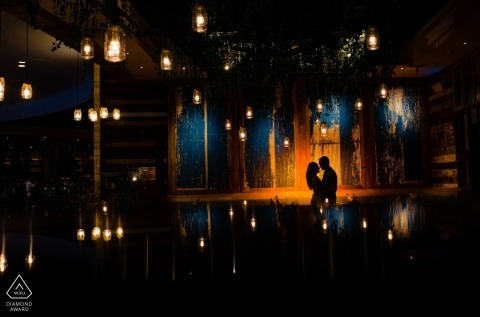 Séance de portrait avec un couple au Dubai Mall - Photo d'engagement à Dubaï
