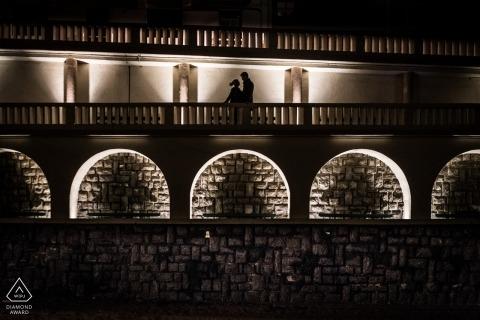 Biarritz, France Silhouette Portrait Session for Couple