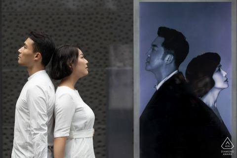 china beijing profile engagement couple portraits