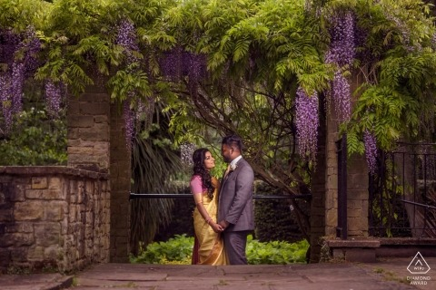 Twickenham, UK Engagement Portrait Session in Purple