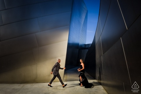 DTLA Engagement Photographer for Formal Couple Portraits