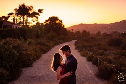 Malibu, California Sunset Engagement Portrait Session for Couple