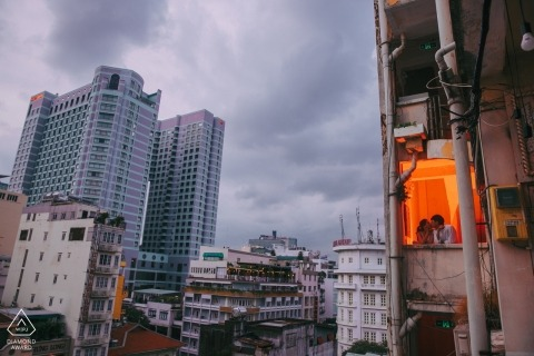 Ho Chi Minh City, Vietnam pre wedding photographer: Us, in this crazy city